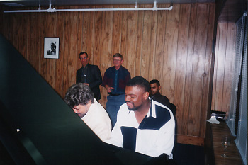Photo of Paul with Monty Alexander and Mulgrew Miller